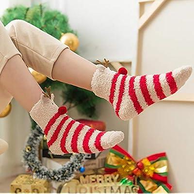 3 Pairs Womens Fuzzy Socks Winter Warm Fluffy Soft Slipper Home Sleeping Cute Animal Socks at Women's Clothing store