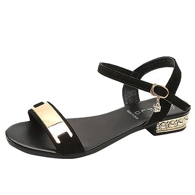 Amiley Hot Sale Fashion Women Low Heel Anti Skidding Beach Cross Strap Shoes Sandals Peep-Toe Sandals New