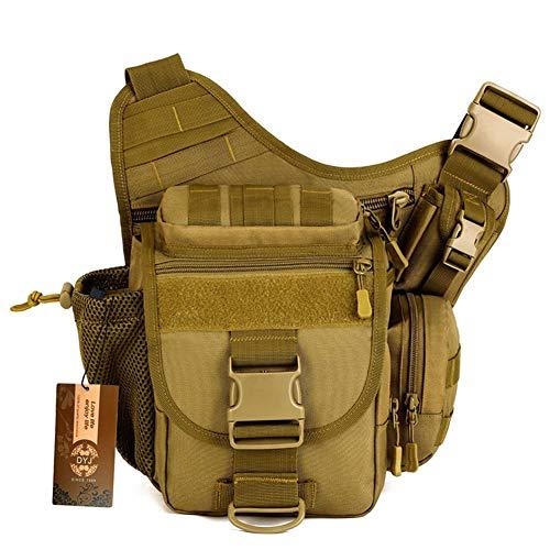 DYJ® Multi-functional Tactical Messenger Bag Fishing Tackle Bag Molle Military Bag Shoulder pack Assault Gear Sling Pack EDC Camera Bags Crossbody Backpack
