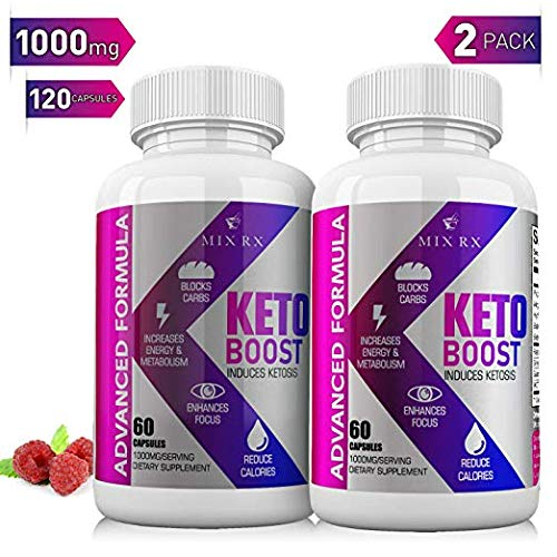 2 Pack  120 Capsules Best Keto Diet Pills with Carb Blocker Belly Fat Supplement  Exogenous Ketones