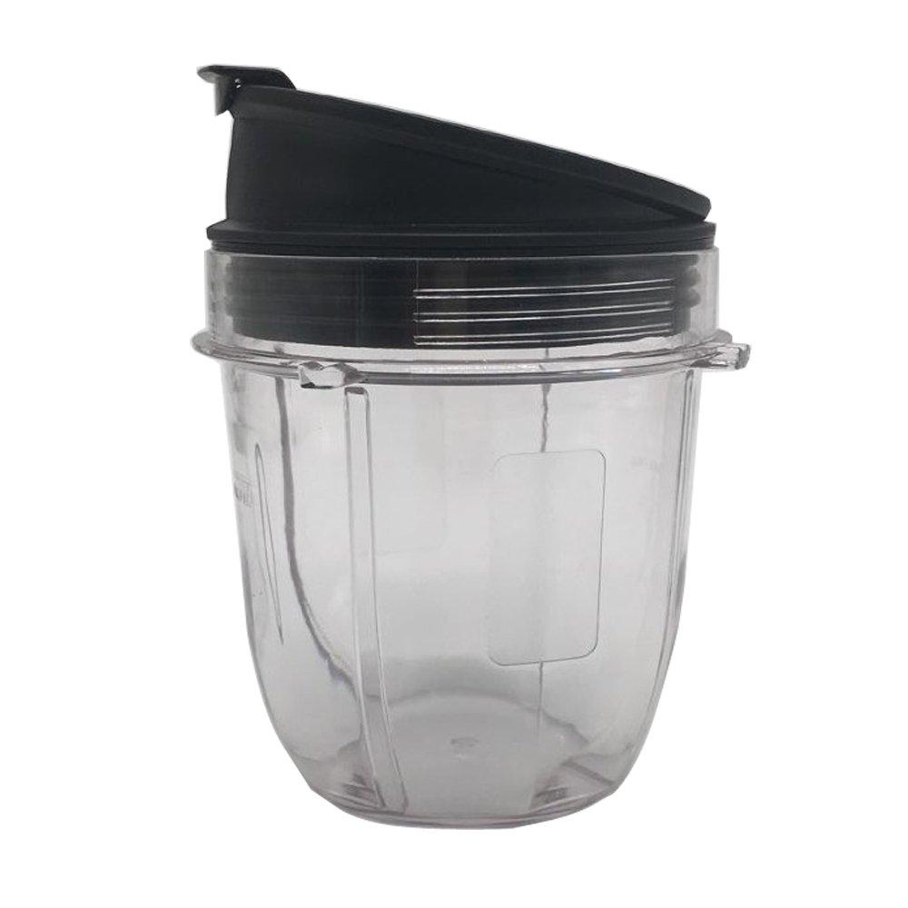 2, 18oz Replacement 18oz cup with Spout Lid for 900w 1000w Nutri Ninja Blender Auto iQ 900w 1000w Nutri Ninja Blender Auto iQ series