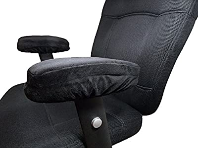 Armrest Pad Covers with Memory Foam Support Cushion Your Elbows to Help Relieve Stress and Pressure | Use in Your Home or Office on Chair | Includes Set of Two