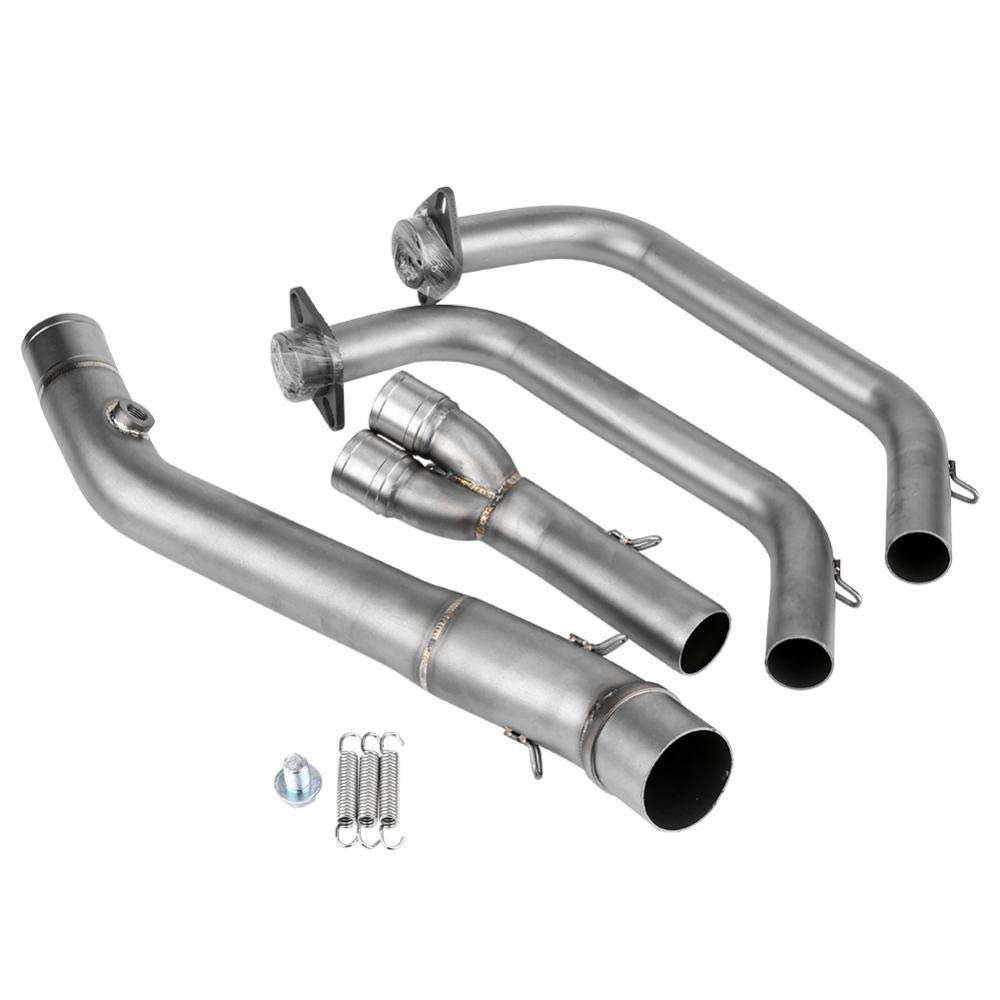 KIMISS 1 Set Stainless Steel Motorcycle Exhaust Front Pipe Kit Mounting Accessories for 51mm Muffler Pipe and YZF-R25/YZF-R3 2015-2018