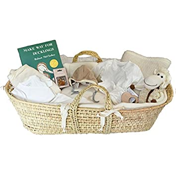 85b7a70ee Amazon.com : Organic Moses Baby Gift Basket with Baby Layette - Group Gift  Idea for Baby Shower : Baby