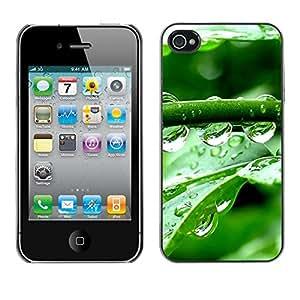 TopCaseStore / la caja del caucho duro de la cubierta de protección de la piel - Crystal Water Drops - Apple iPhone 4 / 4S