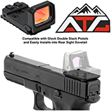 ATG Patch and NcSTAR Flip Red Dot Pistol Sight 3 MOA Glock MOS RMR Slide Mount Backup Iron Sights
