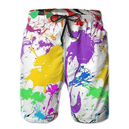 Tvsuh-u Splatter Paint Mens Casual Beach Shorts Quick Dry Swim - Painter Facebook