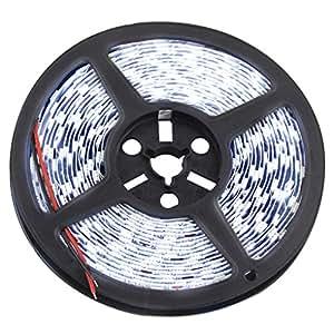 Elenxs 5m DC 12V 60LEDs 2835flexible tira LED luces flexible (blanco frío)