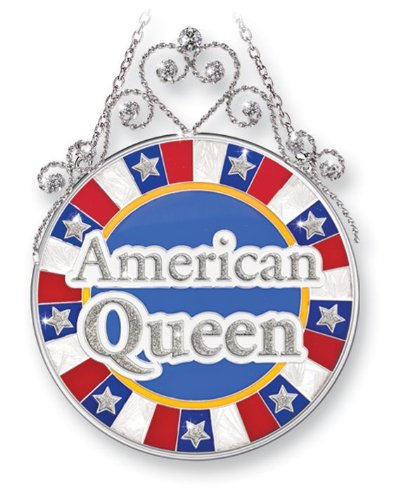 Amia 41402 American Queen Jeweled Circle Glass Sun Catcher, 4-1/2 by (Dragonfly Jeweled Box)