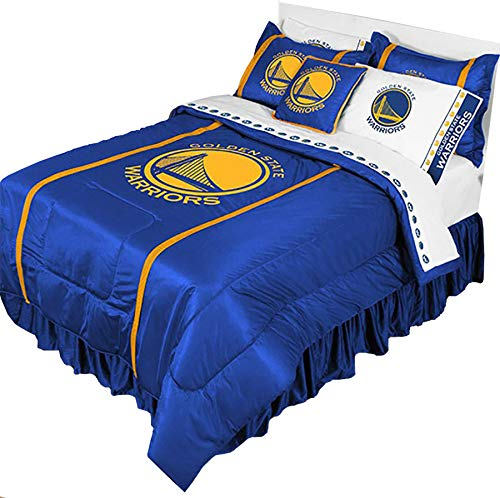 3pc NBA Golden State Warriors Queen-Full Comforter and Pillo