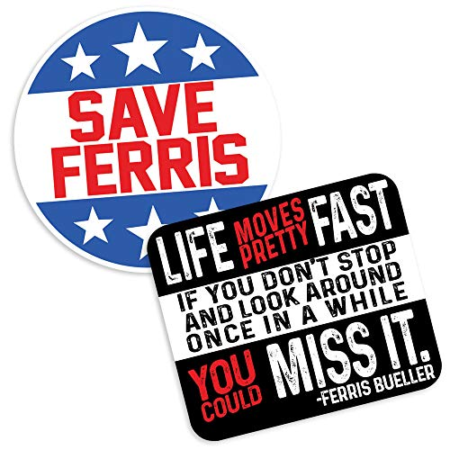 Popfunk Ferris Bueller Life Moves Fast and Save Ferris Collectible Stickers