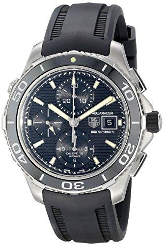 - TAG Heuer Men's CAK2111.FT8011 Aquaracer Analog Display Swiss Automatic Black Watch