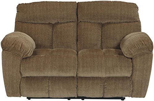 Signature Design by Ashley 9790386 Hector Reclining Loveseat, Caramel