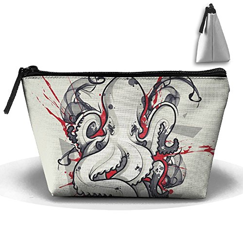 Portable Travel Storage Bags Octopus Tattoo Art Design All Printed Clutch Wallets Big Pouch Purse Zipper Holder For Kits Medicine And Makeup Bag by Muchess