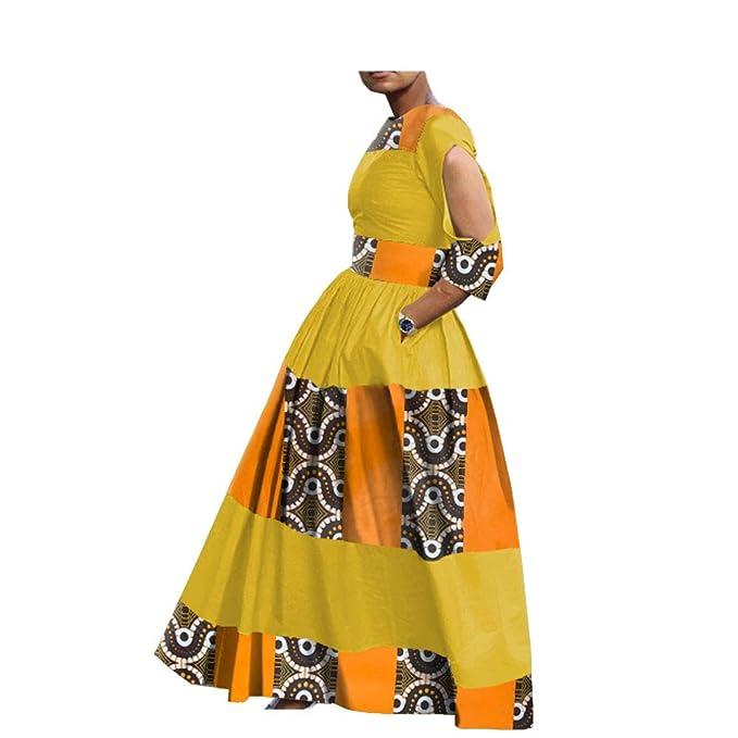 Amazon.com: Vestidos de tela africana personalizados para ...