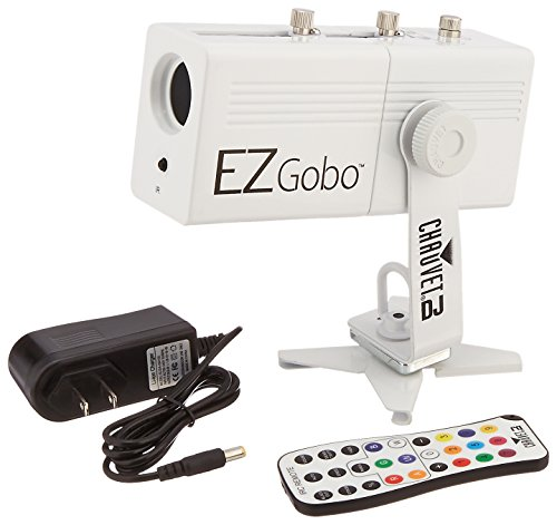 CHAUVET DJ EZGOBO Battery-Powered LED Gobo Projector w/Manual Zoom DJ Effect ()