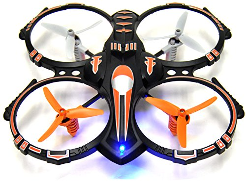 RC-Stunt-Drone-Quadcopter-w-360-Flip-Crash-Proof-24GHz-4-CH-3-Bladed-Propellers-Extra-Drone-Battery-for-Extended-Fly-Time-w-Practice-Landing-Pad-2-USB-Charger-Spare-Parts