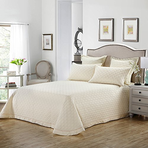 HOLY HOME Bedspread/Quilted Coverlet Set King/Cal King Size 102