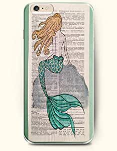 OOFIT Hard Phone Case for Apple iPhone 6 ( 4.7 inches) - Gold Hair Mermaid On The Rock - Oil Painting wangjiang maoyi