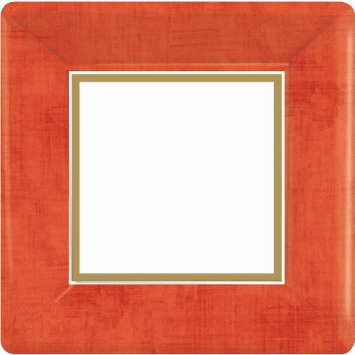 Plates 7 Dessert Square (Amscan Party Perfect Vibrant Square Dessert Plates Tableware, Apple Red, paper , 7