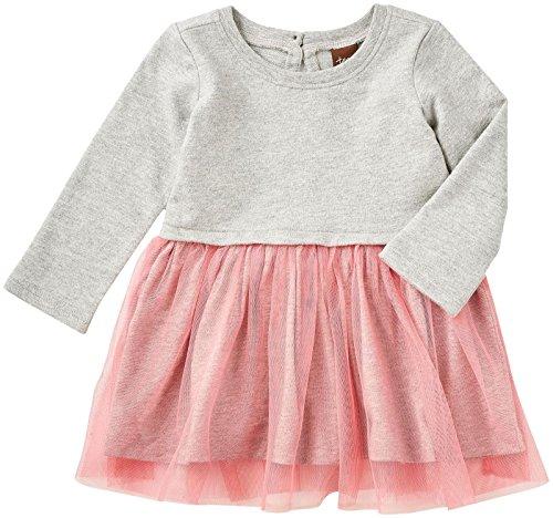 - Tea Collection Girls' Kawaii Tulle Skirted Bb Dress, Medium Heather Grey, 18-24 Months Baby