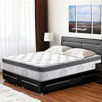 PrimaSleep 13 Inch Hybrid Comfort Box Top Spring Mattress, Queen
