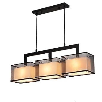 Suspension Le Rectangulaire Fer Plafonniers Lampe Moderne Gaze qzMVUpS