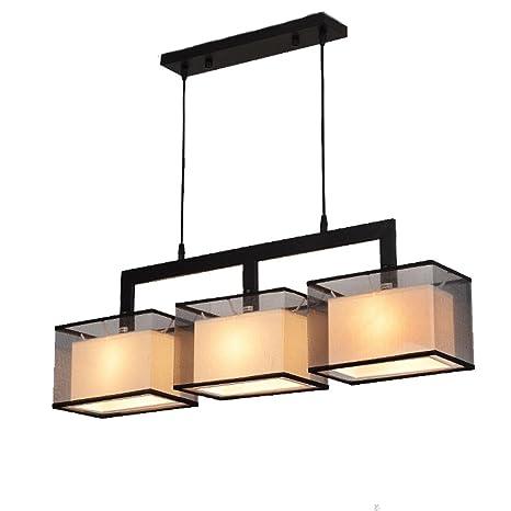 Moderno Rectangular Colgante de luz Hierro Luces de techo ...