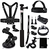 Luxebell 7-in-1 Accessories Kit for Sony Action Camera Hdr-as15 As20 As30v As50 As100v As200v Hdr-az1 Mini Sony Fdr-x1000v