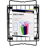 LockerMate Wire Stac-A-Shelf Stackable Wire Locker Shelf, 12 Inches, Black Color School Supplies
