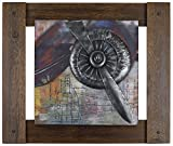 HobbitHoleCo 36-Inch by 30-Inch Mixed Media Metal Art Décor, Sam O., Metal Plane II