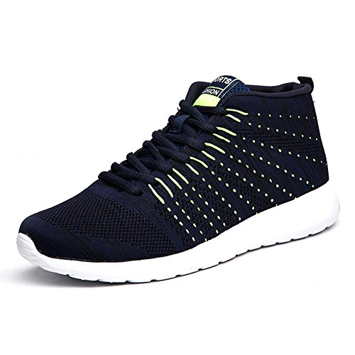 Men running shoes outdoor sports shoes breathable net training sports shoes Blue-A