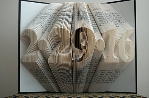 Folded Book Art - Love Pattern - Paper Anniversary Gift for Him or Her - Stunning Word Pattern - Date - Unique Birthday Gift - Wedding Decoration - 6 Numbers -Save the Date