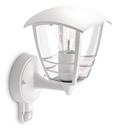 Philips myGarden Creek - Aplique de exterior con sensor de movimiento, empotrado, casquillo gordo