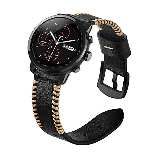 YOOSIDE for Garmin Fenix 5/Forerunner 935 Watch Band,22mm Genuine Leather Replacement Watch Strap for Fenix 5/5 Plus/Forerunner 935,Fit Wrist 5.9''-7.9''(NOT for Fenix 5X/5S) by YOOSIDE