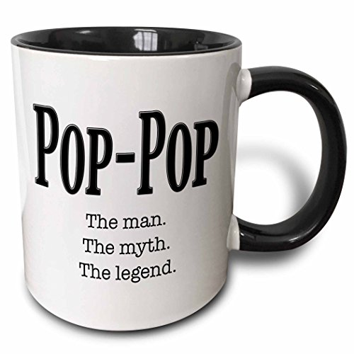 3dRose mug_149789_4 Pop Pop legend Black