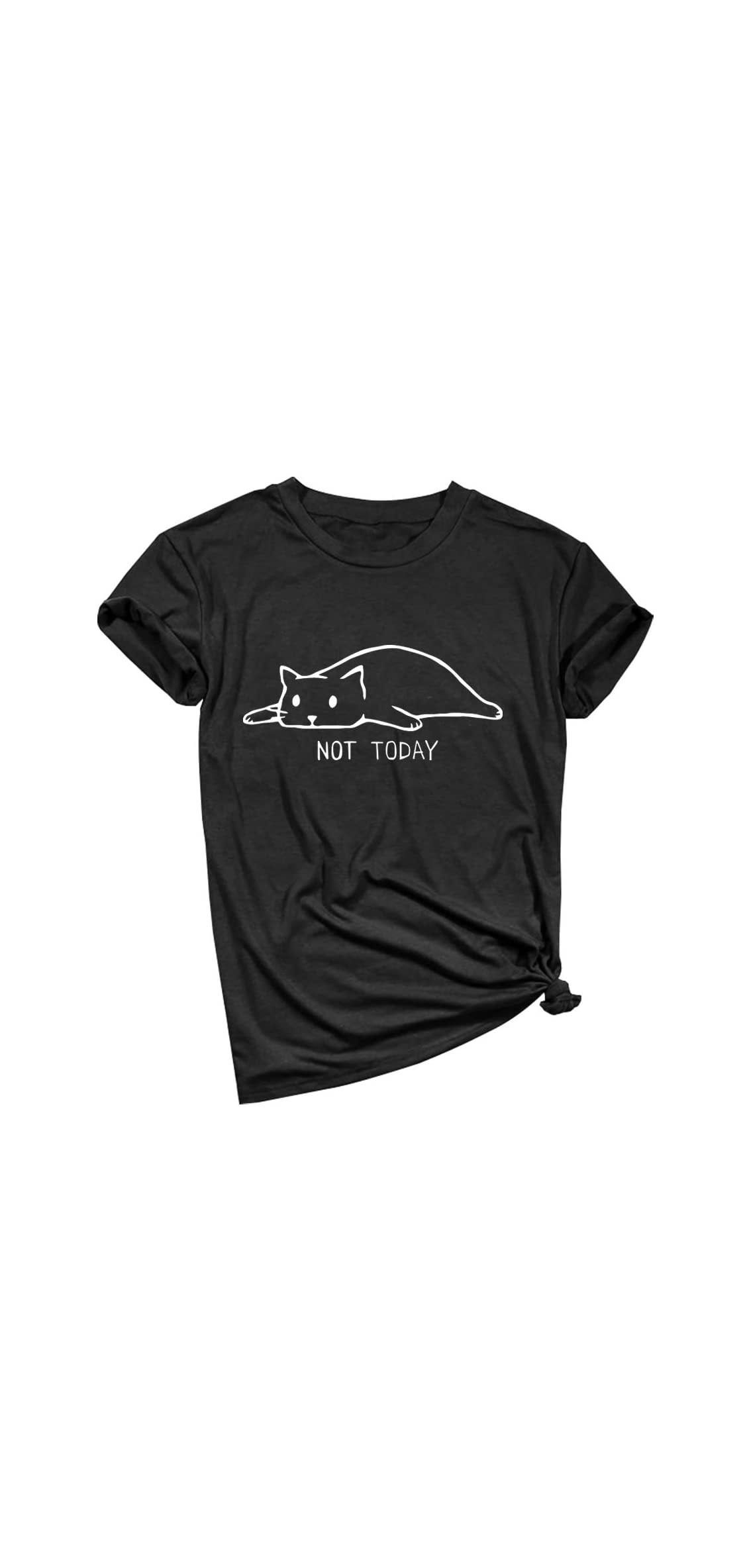 Women Not Today Cat Cute Graphic Tee Shirtsgift Ideas
