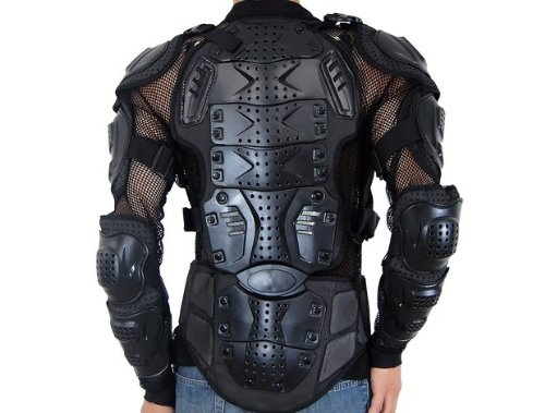 Motorcycle Racing Enduro Body Armor Spine Chest Protective Gear Motocross Accessories Safety Protector Sport Jacket Black Size XXXL Fit For Vespa ET2 ET4 Limited by SKY (Image #3)