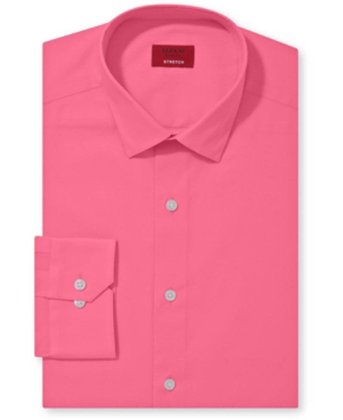 Alfani Spectrum Slim-Fit Solid Dress Shirt Pink Blush at Amazon Men s  Clothing store  9dae5e6387d7