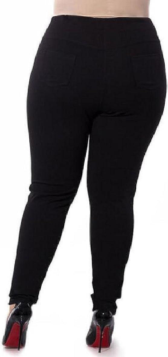 ONTBYB Womens Casual High Waist Stretch Skinny Seamless Leggings Plus Size