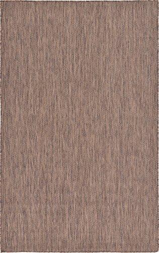 Cheap  A2Z Rug Plan & Trellis Design Indoor / Outdoor Light Brown 5'..