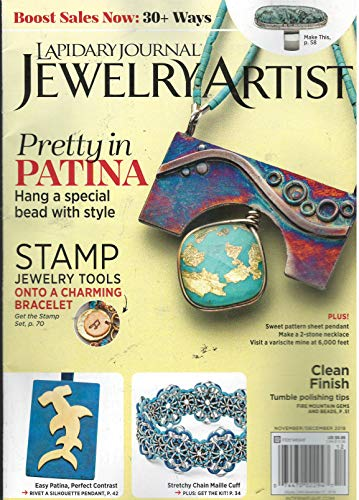 Lapidary Journal Jewelry Artist Magazine November December - Magazine Journal Artist Jewelry Lapidary