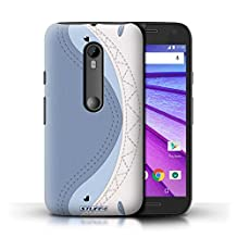 STUFF4 Phone Case / Cover for Motorola Moto G Turbo Edition / Shark Design / Animal Stitch Effect Collection
