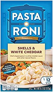 Pasta Roni Shells & White Cheddar Mix (Pack of 12 Boxes)