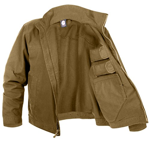 Rothco Lightweight Concealed Carry Jacket, 3XL, Coyote Brown (Best Double Stack Subcompact 9mm)