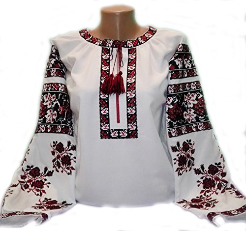 (Vyshyvanka - Embroidered Blouse for Women on a White Homespun Cloth - Limited TIME Offer (M))