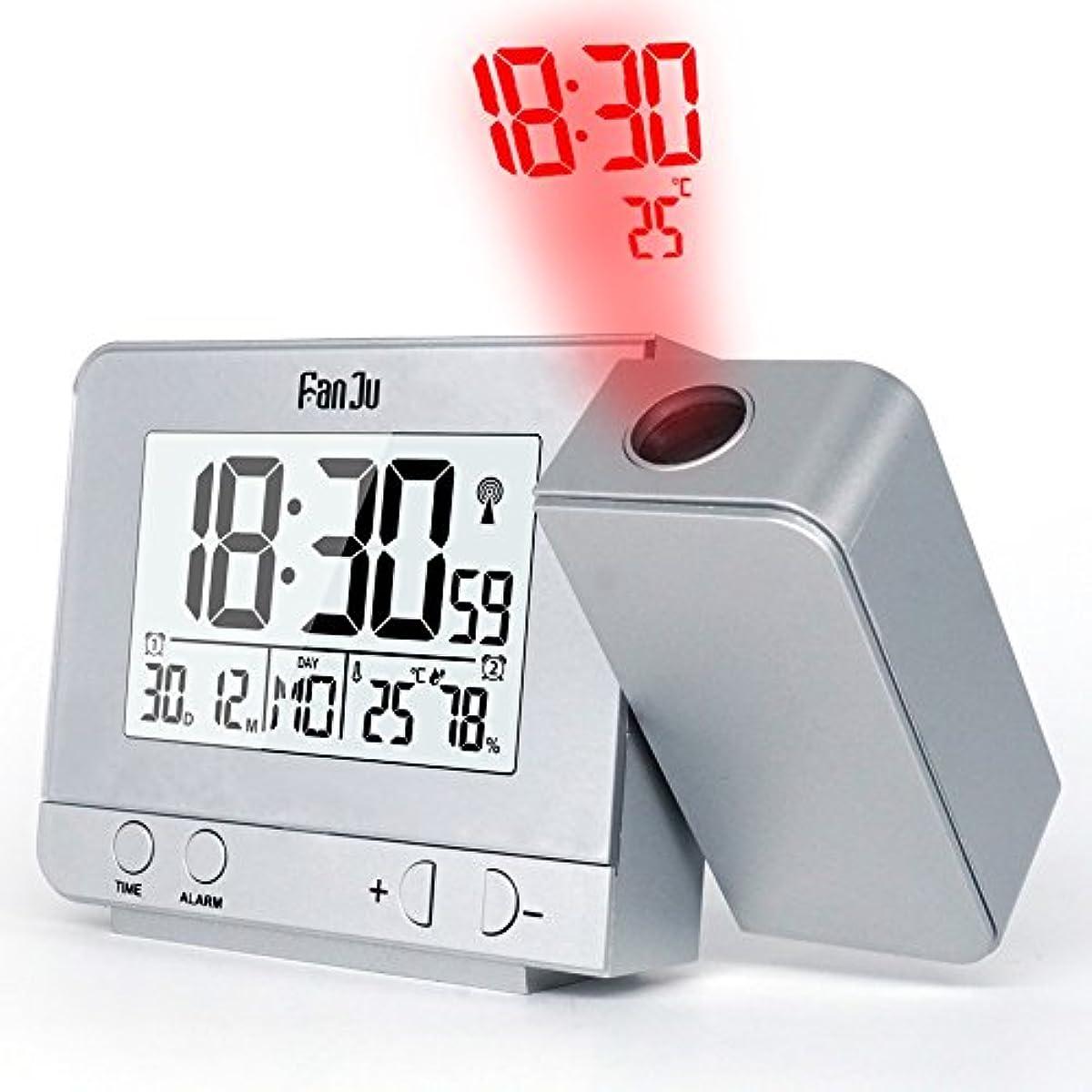 [해외] FANJU FJ3531S 온도와 시건의 투사진을 동반하는어울리는 투영 알람 clock/USB충전기 포토/실내 온도와 습도/스누즈기능 딸린 수동 시건 조정/캘린더/더블 알람