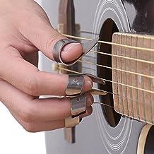 Bronze Stainless Steel Metal Guitar Finger Picks Unique Ring Style Picks Thumb Pick Forefinger Picks (1T)