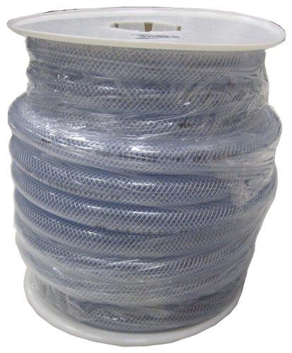 (LDR 515 B5006S Braided Vinyl Hose Tubing, 1-Inch ID X 1-3/8-Inch OD, Clear, 50-Foot Spool)