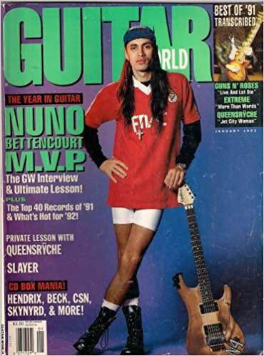 Amazon.com: NUNO BETTENCOURT EXTREME GUITAR WORLD JANUARY ...